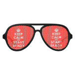 [Crown] keep calm and start brady  Party Shades