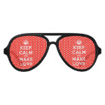 [Crown] keep calm and make lovr  Party Shades