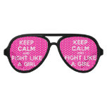 keep calm and fight like a girl  Party Shades