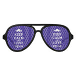 [Moustache] keep calm and love peha  Party Shades