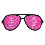 [Crown] keep calm and make it easy  Party Shades