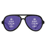 [Crown] keep calm and cry  Party Shades