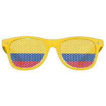 Party Shades Sunglasses - Colombia flag