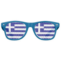 Party Shades Sunglasses - Greece flag