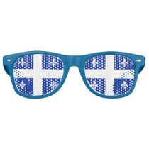 Party Shades Sunglasses with flag of Quebec