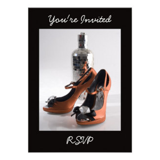 Party Shoe Invitation, You're Invited, RSVP