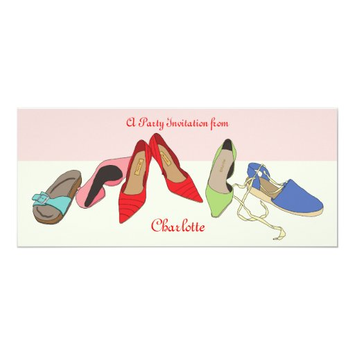 Party Shoes design - personalised Card