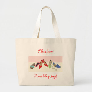 Party Shoes design - personalised Large Tote Bag