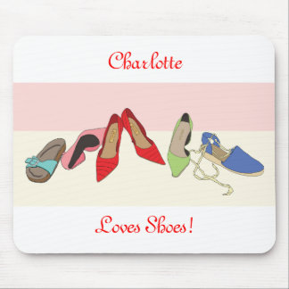 Party Shoes design - personalised Mouse Pad