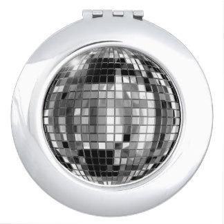 Party Silver Disco Ball Compact Mirror