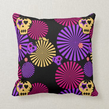 Halloween Themed Party skulls pillow