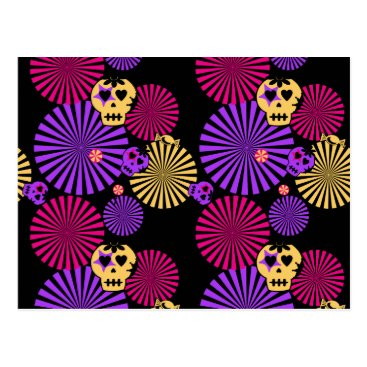 Halloween Themed Party skulls postcard