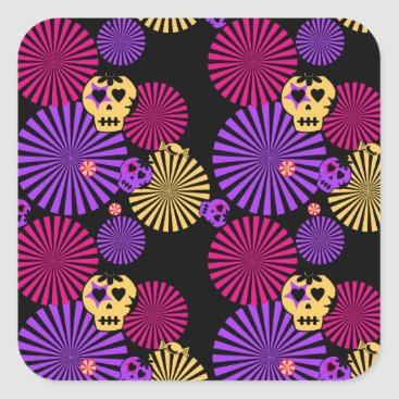 Halloween Themed Party skulls stickers