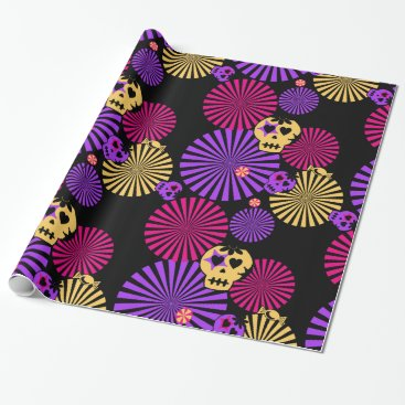 Halloween Themed Party skulls wrapping paper