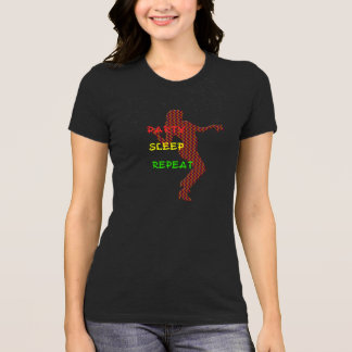 Party Sleep Repeat funny t-shirt design