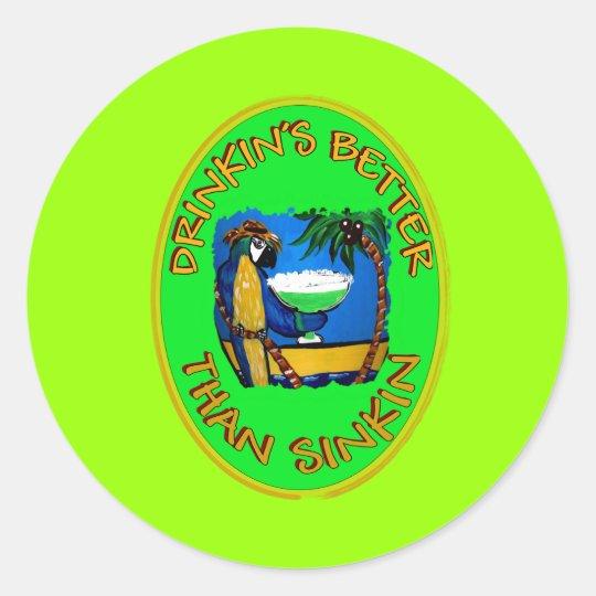 Party Slogans 1 Classic Round Sticker