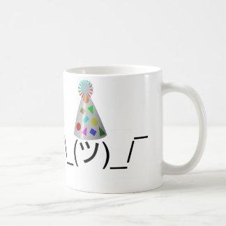 Party Smugshrug - Customizable Classic White Coffee Mug