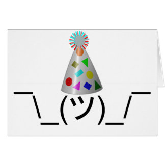 Party Smugshrug - Customizable Greeting Card