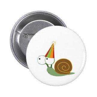 Party Snail Pinback Button