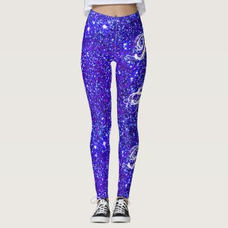 Party Sparkle Glittery Purple Girly Glam Leggings