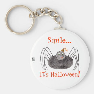 Party Spider Smile It's Halloween! Key Chain