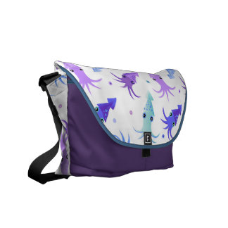 Party Squid Pattern Courier Bag