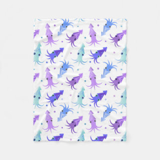 Party Squid Pattern Fleece Blanket