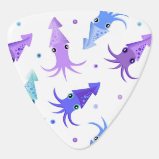 Party Squid Pattern Guitar Pick