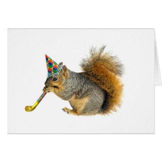 Party Squirrel Card