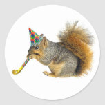 Party Squirrel Classic Round Sticker