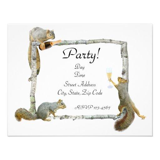 Party Squirrels Invitation