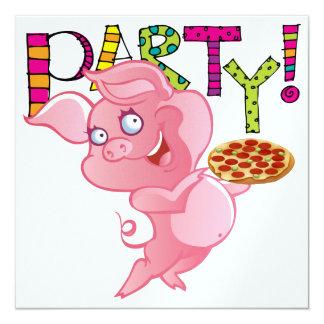 Party - SRF 5.25x5.25 Square Paper Invitation Card