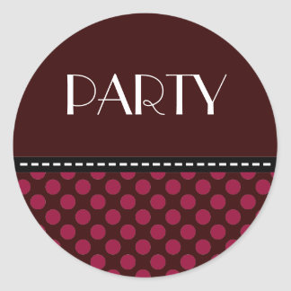 PARTY STCKER CLASSIC ROUND STICKER