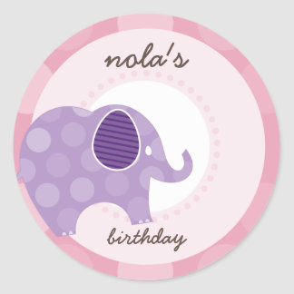 PARTY STICKERS :: elephant 7