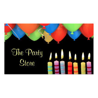 Party Store Candles Business Card Black