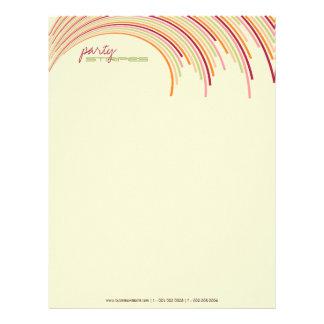 Party Stripes 01   Modern Designer Letterhead