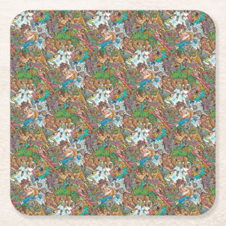 Party Supplies Never Give Up by Lorenzo Traverso Square Paper Coaster