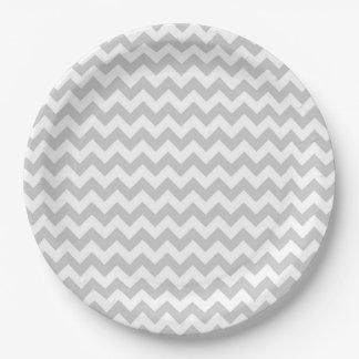 Party Supplies Paper Plate Chevron Pattern