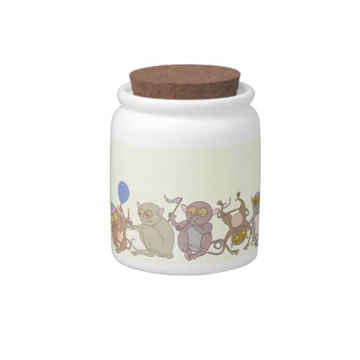 Party Tarsiers, candy jars