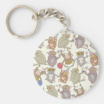 Party Tarsiers, patterned Key Chains