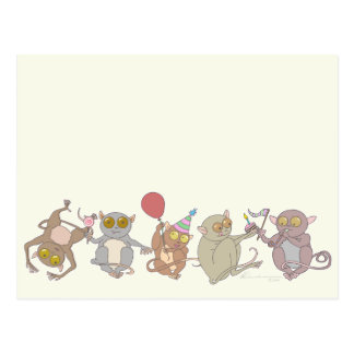 Party Tarsiers, Postcard
