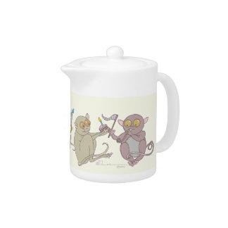 Party Tarsiers, teapots