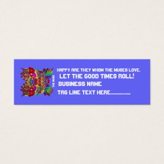 Party Theme Dual Logo  Please View Hints Mini Business Card
