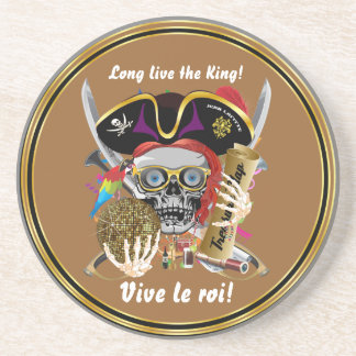 Party Theme Pirate King Please View Notes Beverage Coasters