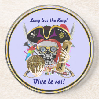 Party Theme Pirate King Please View Notes Drink Coaster