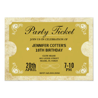 Party Ticket Card