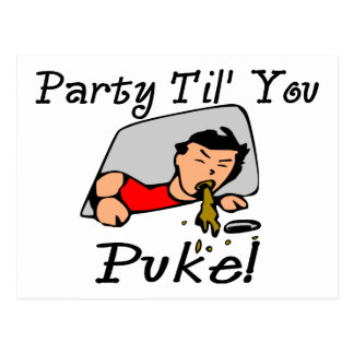 Party Til You Puke Party Animal Postcard