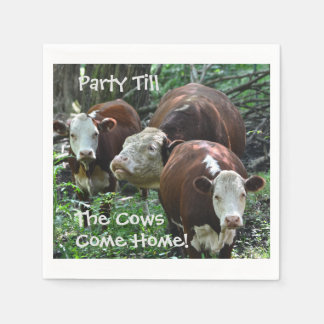 Party Till The Cows Come Home Paper Napkin