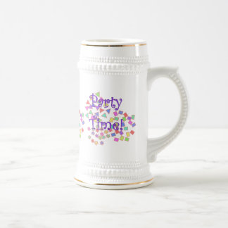Party Time! 18 Oz Beer Stein