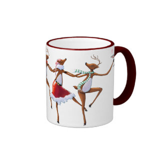 PARTY TIME 3 REINDEER by SHARON SHARPE Coffee Mugs